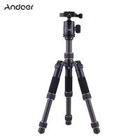 Andoer TP166C Portable Lightweight Carbon Fiber Table Mini Tripod with Ball Head Kit for Canon Nikon Sony Camera