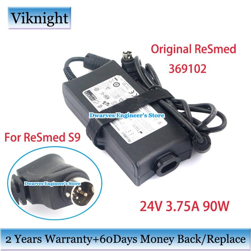 ReSmed 369102 90W Adaptador AC genuíno IP21 24V 3.75A para Resmed S9 Série RESMED CPAP VPAP Máquinas De Alimentação carregador fonte