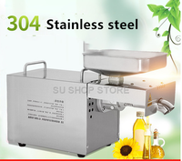 220V Heat and Cold home oil press machine peanut olive oil press machine high oil extraction rate