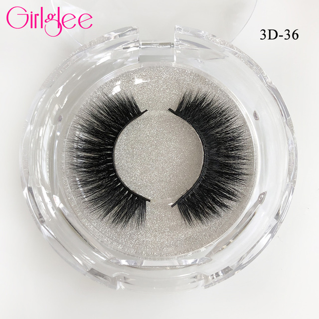 Natural Mink Eyelashes 3D Mink Lashes Long Thick False Eyelashes High Volume Eye lashes Girlglee Hand made Makeup Eyelash Soft 4