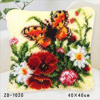 Latch Hook Rug Kits Pillowcase Goblen Kitleri Canvas Kussen Knooppakket Kleed La Casa De Papel Serie Embroidery Cushion Cover