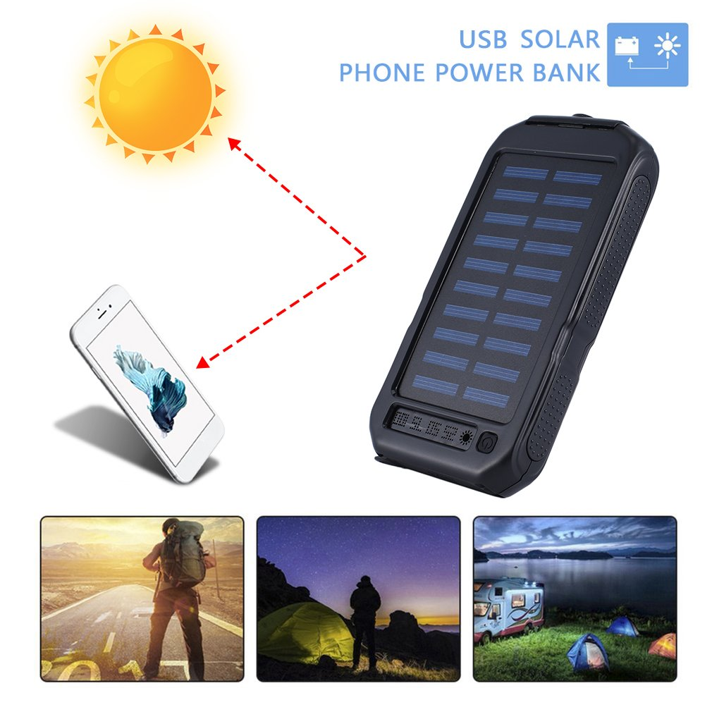 Solar Panel Charger Solar Mobile Power Bank For Phone Car Laptop Battery Charger