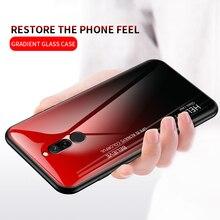 Dla Xiao mi czerwony mi uwaga 5 6 Pro 6A 7 przypadku gradientu obudowa ze szkła hartowanego dla Xiao mi mi 8 A2 Lite A1 9 mi 8 mi 6 mi 9 Pocophone F1 przypadku