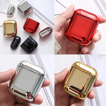 Case For Airpods 2 Air pods Color PC Earphone Transparent Hard Cases AirPods Protective Cover Wireless