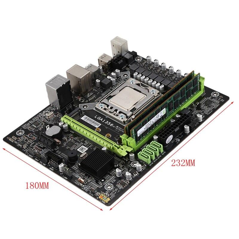 X79A материнская плата с Xeon LGA 1356 E5 2420 C2 2X8GB = 16 Гб 1600 МГц DDR3 память ECC REG