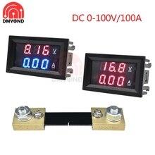 Mini 0.28 pollici DC0-100V 100A LED voltmetro digitale amperometro Volt Ampere Meter Amperemeter Tester indicatore di tensione con Shunt FL-2