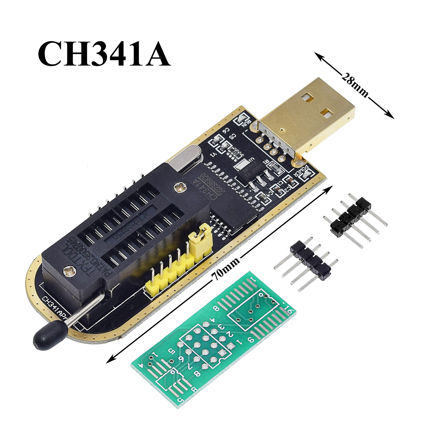 CH341A CH341 24 25 Series EEPROM Flash BIOS USB Programmer with Software /& Driver