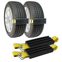 Neve anti skid pneus blocos  lama e areia pneu tração dispositivo -para caminhões  suvs e carros e pequenos suvs  fácil de instalar o conjunto