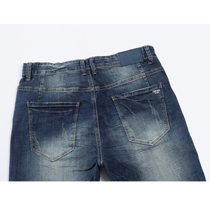 Image 4 - KSTUN Mens Jeans Classic Direct Stretch Dark Blue Business Casual Denim Pants Slim Straight Long Trousers Gentleman Cowboys 38