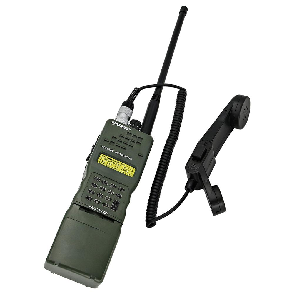 H250 Handheld Speaker Microphone 6 Pin Ptt For PRC152 PRC148 Walkie-talkie Adapter
