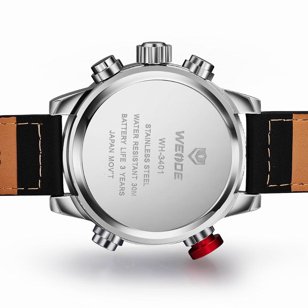 H7b99def8b0f94438a24de70942f21f0al Weide watch Men Luxury Top Brand Quartz Watch Fashion Business Male Watch Shockproof Luminous Wristwatch