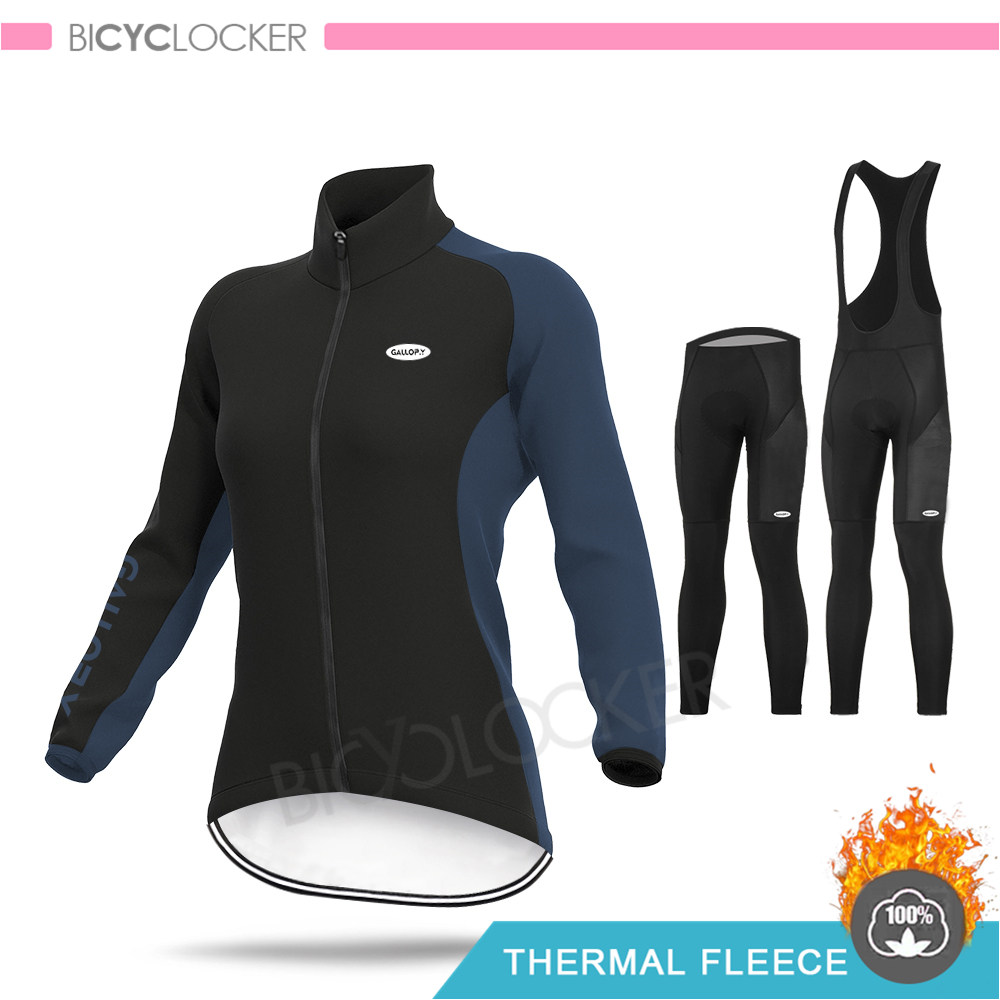 Women Winter MTB Cycling Clothing Female Jacket Long Sleeve Jersey Set Bicycle Clothes Ropa Ciclismo Pro Team Cycling Wear
