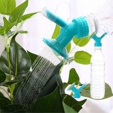 2in1 bocal de aspersão de plástico para rega de flores waterers garrafa sprinkler jardim flor planta água sprinkler casa