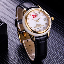 Brand Luxury Couple Watch Jade Top wristwatch woman creative hot fashion quartz business man clock classic carnival male watch(China)