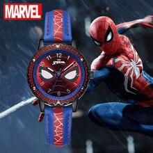 Wrist-Watch Clock Strap MARVEL Spider-Man Kids Gift Hour Teen Boy Super-Hero Children