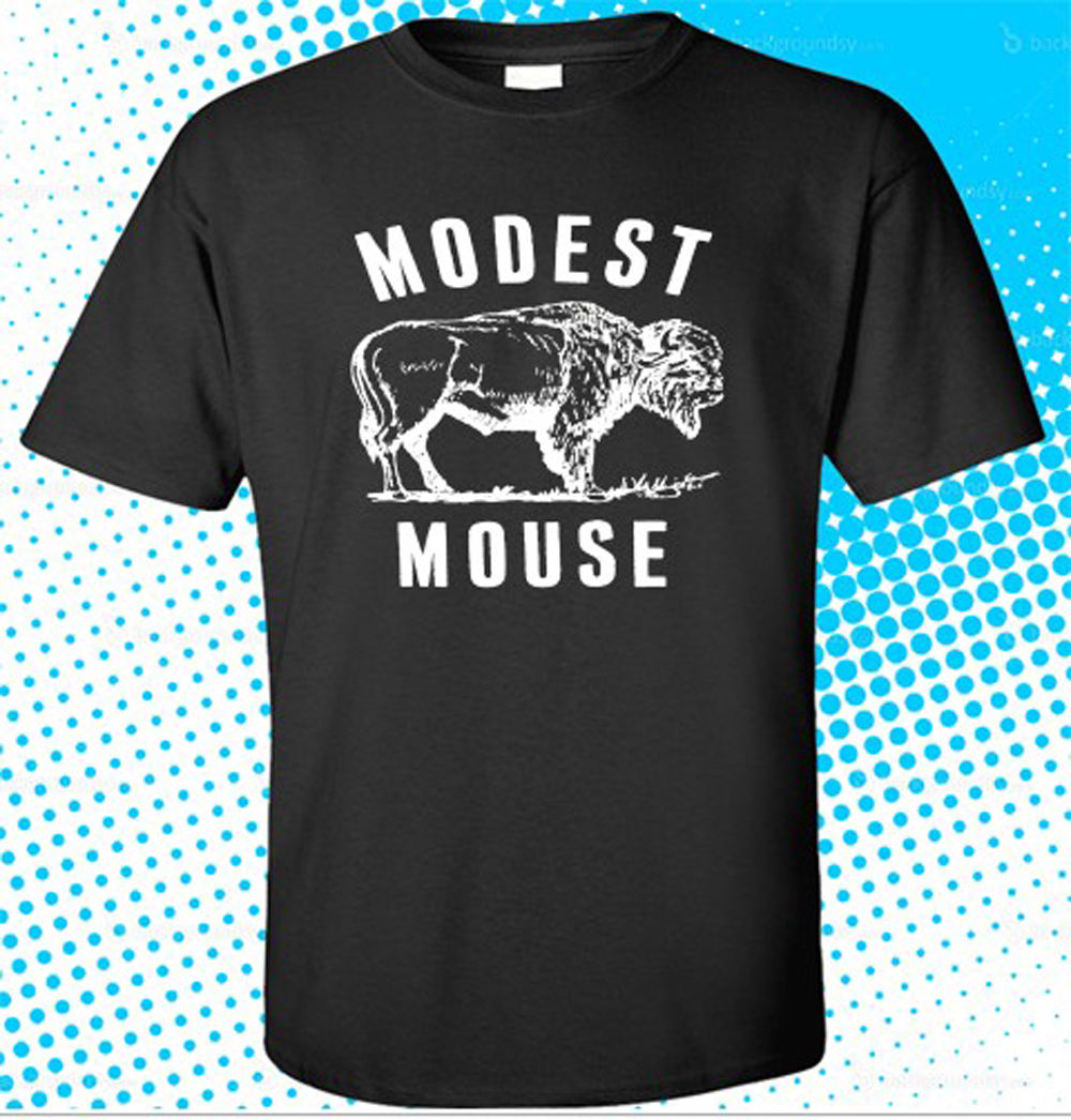 New Modest Mouse <font><b>Rock</b></font> Band Men's Black <font><b>T</b></font>-<font><b>Shirt</b></font> Size S To 3XL Men Adult <font><b>T</b></font> <font><b>Shirt</b></font> Short Sleeve Cotton Printing <font><b>Dress</b></font> image