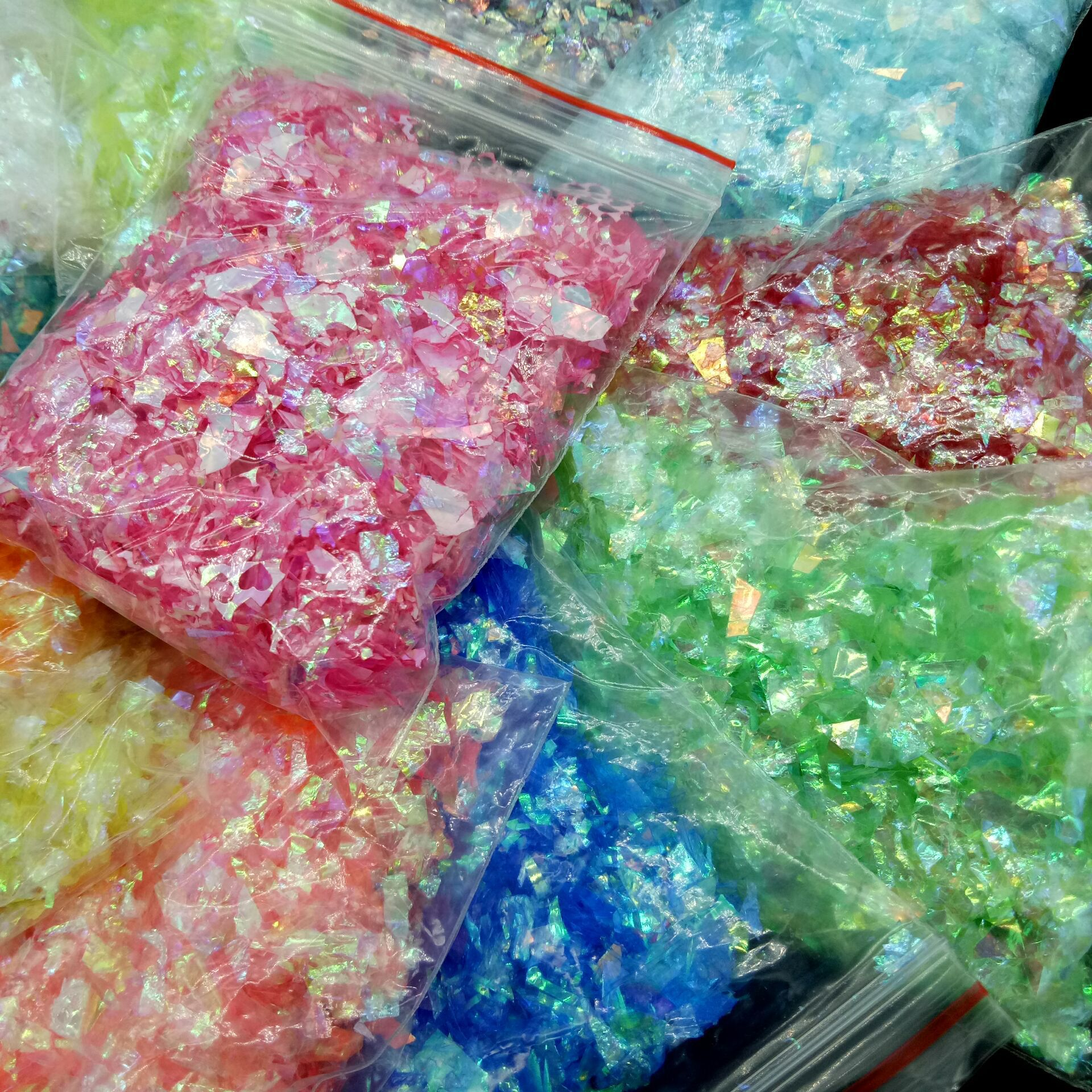 20grams Irregular-shape Flakes Candy Plastic Paper For Silicon Mold Resin Filler Charms , Nail Sticker Nail Beauty Slice Glitter