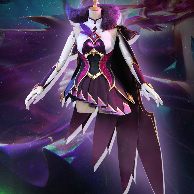 Hot! LOL Xayah Cosplay Costume Guardian Of The Star 1/3 Delusion Version Uniforms Free Shipping