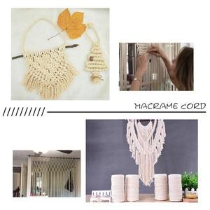 Image 5 - 3mm x 200m sznurek bawełniany makrama na ścianie wiszące łapacz snów DIY smycz Ficelles Couleurs nici przewód # BL5