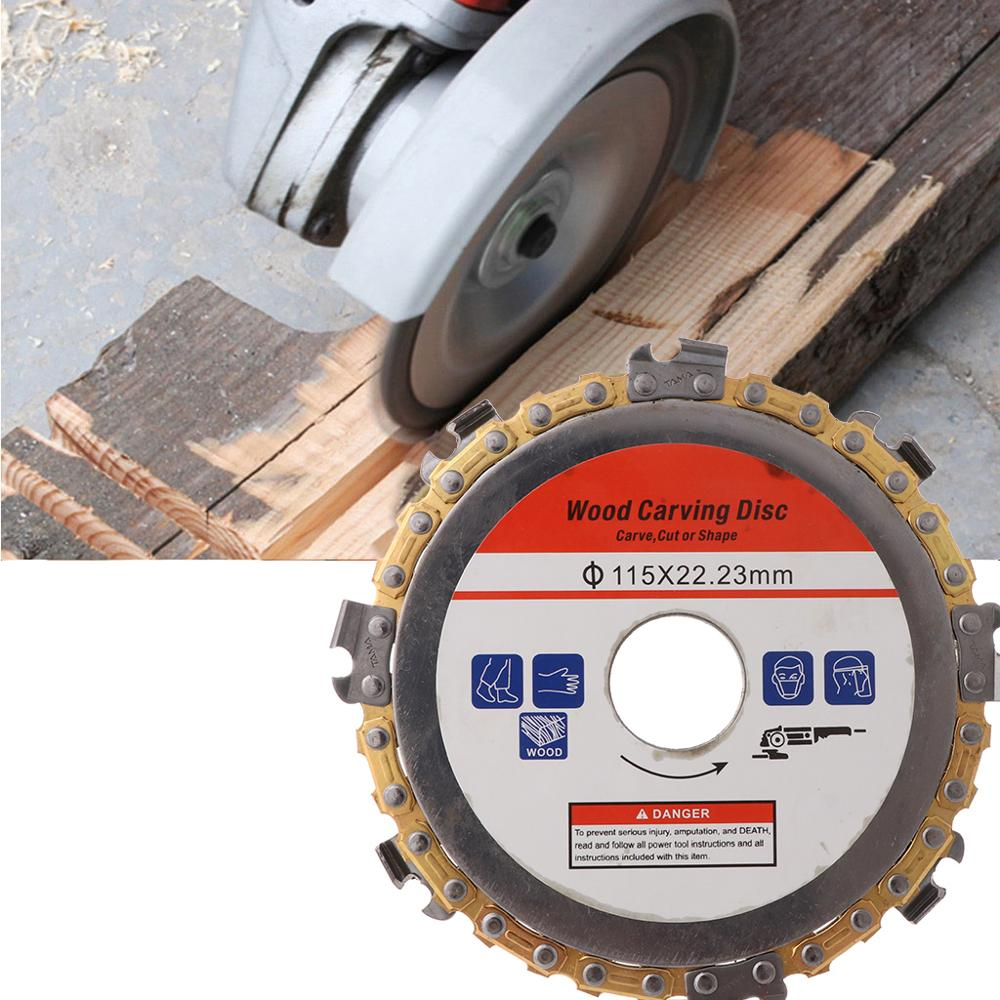 115mm 22mm Diameter 9 Tooth Chainsaw Disc For Angle Grinders Circular Saw Blade Woodworking Cutting Wood Slotted Cutting Piece