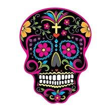 DAWASARU Car Stickers MEXICAN SUGAR SKULL Classic Reflective Decals Custom Waterproof Creative Bumper Laptop Luggage 10CM*13CM 6zstickers sugar skulls reflective stickers decals waterproof sunscreen motogp x15