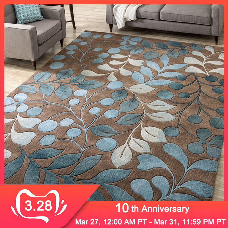 RFWCAK Nordic Abstract Flower Art Carpet For Living Room Bedroom Anti-slip Large Rug Floor Mat Fashion Kitchen Carpets Area Rugs