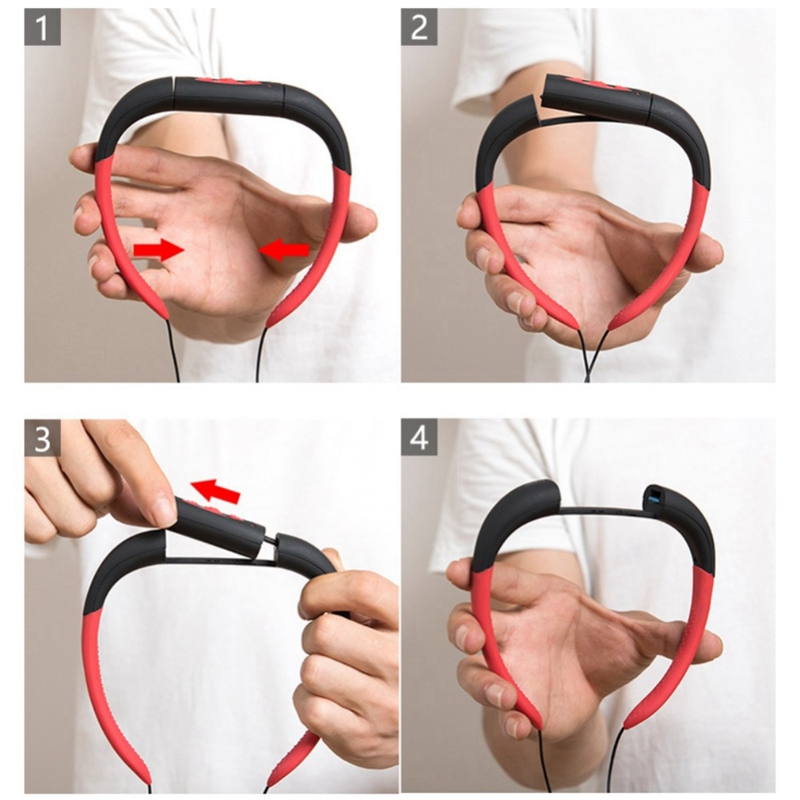 8Gb Waterproof Mp3 Swimming Diving Sport Mp3 Music Player Neckband Stereo Headset With Fm in Bluetooth Earphones Headphones from Consumer Electronics