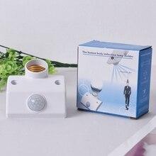 Bulb-Holder Motion-Sensor Smart Home LED Lamp for Corridor Power-Saving White Socket-Switch