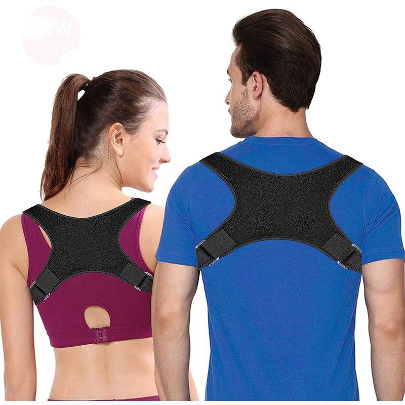 Регулируемый Корректор осанки для спины, для ключицы, для позвоночника, для спины, для плеч, для поддержки, для коррекции осанки, для de postura