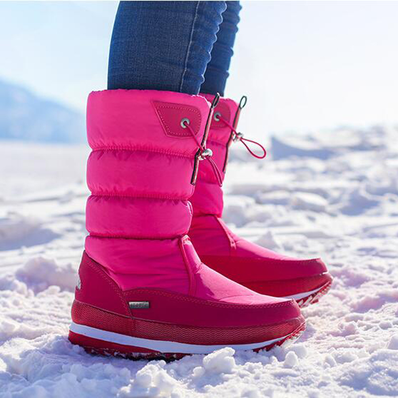 High Quality Women's Boots 2019 winter boots Non-slip Waterproof platform Snow boots White Women Winter Shoes