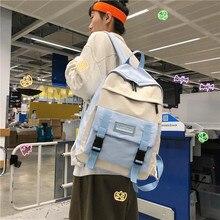 Fashion Backpack Waterproof Female Backpack Solid Color Nylon Teen Girl School Shoulder bag Mochilas Female Backpack