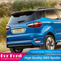 AITWATT For Ford Ecosport 2013 to 2018 High Quality ABS Plastic Tail Spoiler Rear Trunk Boot Wing Lip Roof Black Spoiler