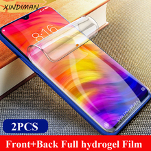 XINDIMAN 2PCS Front+Back hydrogel film for xiaomi redmi note7 soft screen protector note7pro protective-film