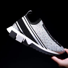 Casual Sneakers Shoes Sports Women Hot for Leisure Weaving Lazy-Couple Air-Permeable
