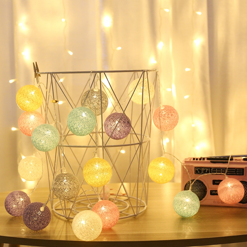 Fairy Garland LED Ball String Lights Waterproof for Christmas Tree Wedding Home Indoor Decoration Battery Powered(China)