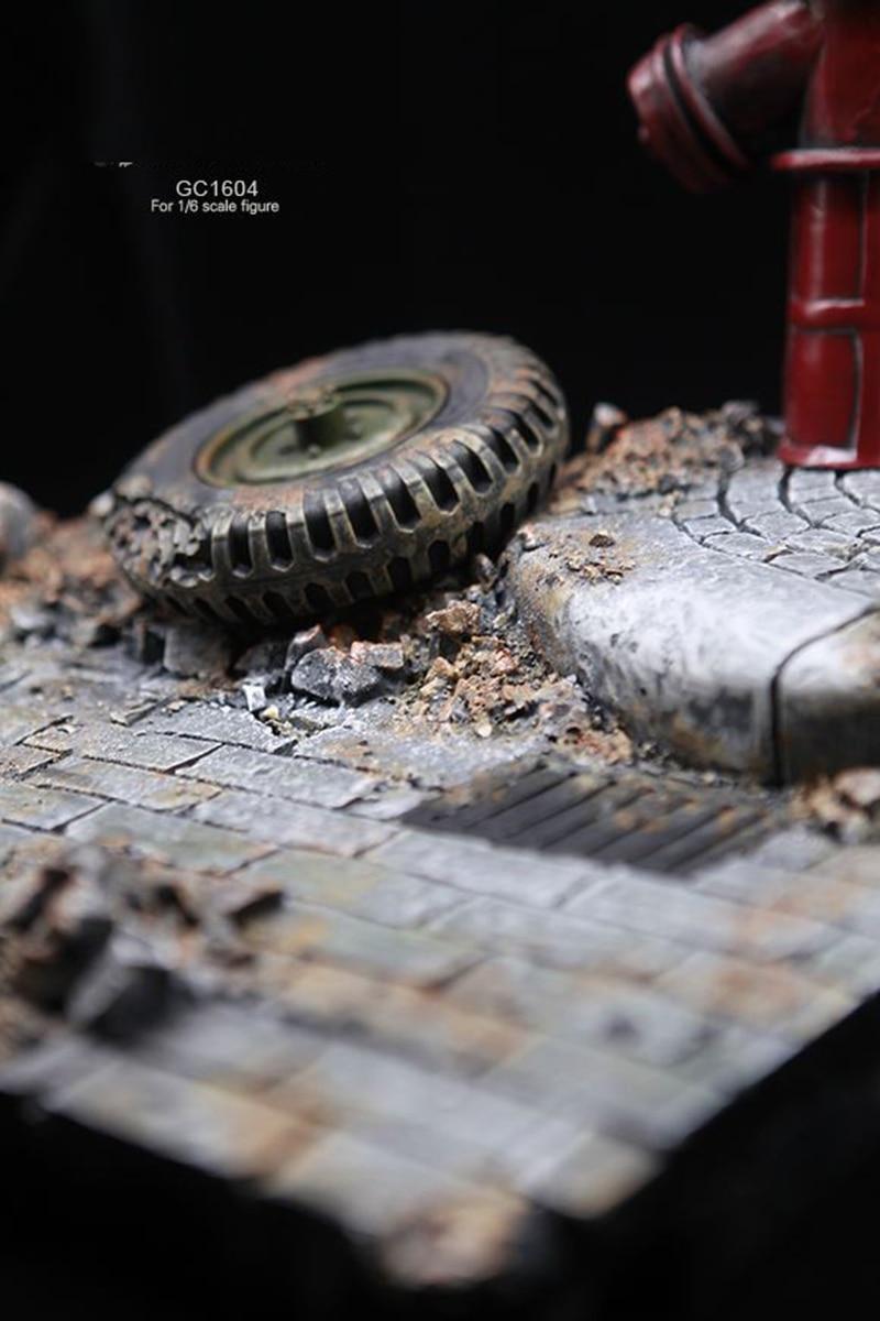 1/6 фигурка солдата аксессуары для сцены GC1604 мировая война II европейские уличные руины Модель сцена платформа, игрушка для 12 ''фигурка - 3