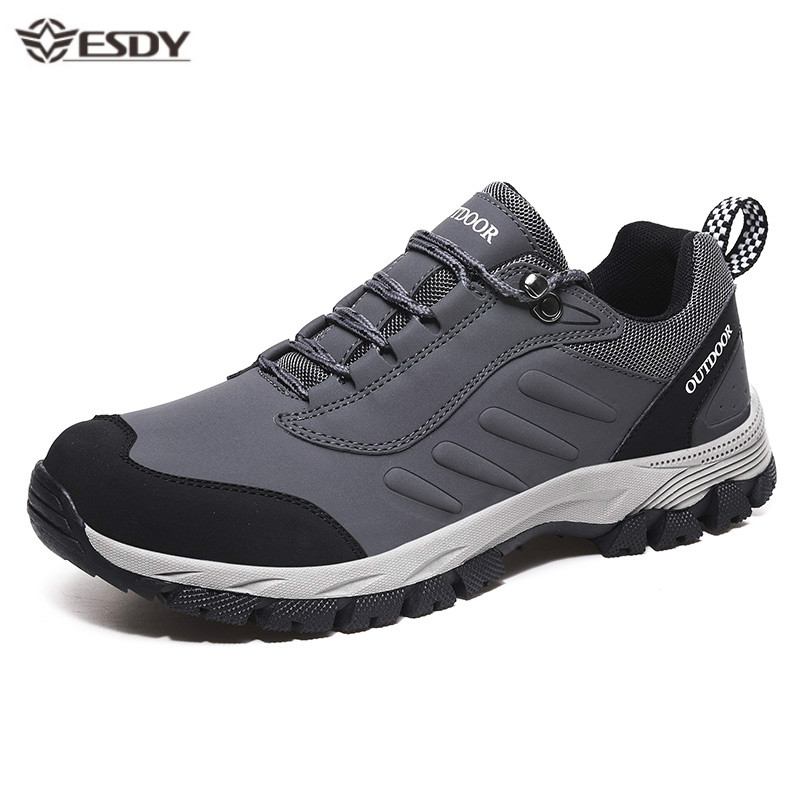 Men Sneakers Breathable Non-slip Casual Shoes Men Fashion Lace-up Waterproof Outdoor Hiking Shoes Plus Size Zapatos De Hombre