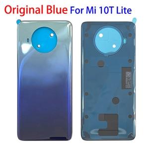 Image 4 - 100% 오리지널 신제품 Xiaomi Mi 10T 11 Lite 백 유리 배터리 커버 후면 하우징 도어 케이스 배터리 커버 (접착 테이프 포함)