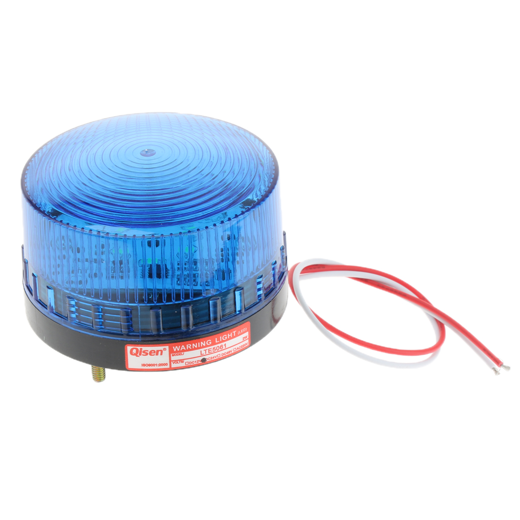 24V Flash Strobe / Always On Warning Light Round Signal Beacon Lamp Blue
