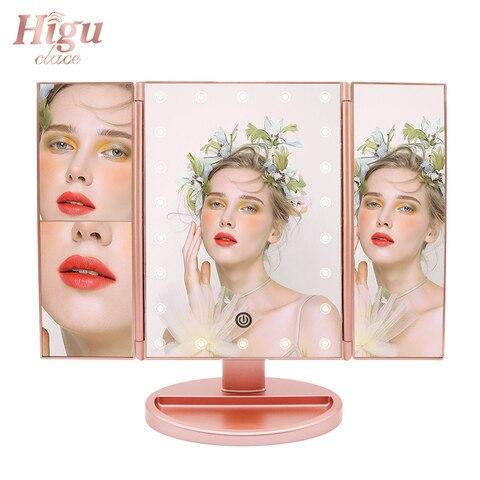 higu tri dobrado espelho de maquiagem mesa