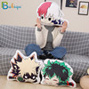 Lovely Cartoon Anime Plush Toys Bakugou Katsuki Todoroki Shoto Midoriya Izuku Bolster Plush Boku No Hero Academia Pillow 1