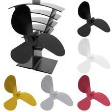Вентилятор для печки из алюминиевого сплава с 3 лопастями и тепловым питанием, вентилятор для печки, принадлежности для камина