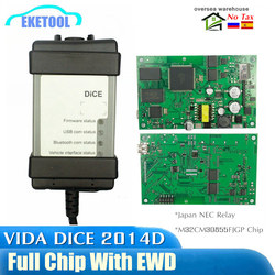 Для VOLVO VIDA DICE 2014D полный чип многоязычный автоматический диагностический инструмент зеленый PCB оригианальные чипы EWD подарок