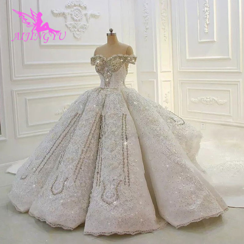 AIJINGYU Train Wedding Dress Real Gowns Petite Vintage The Gown Style Wedding Dresses