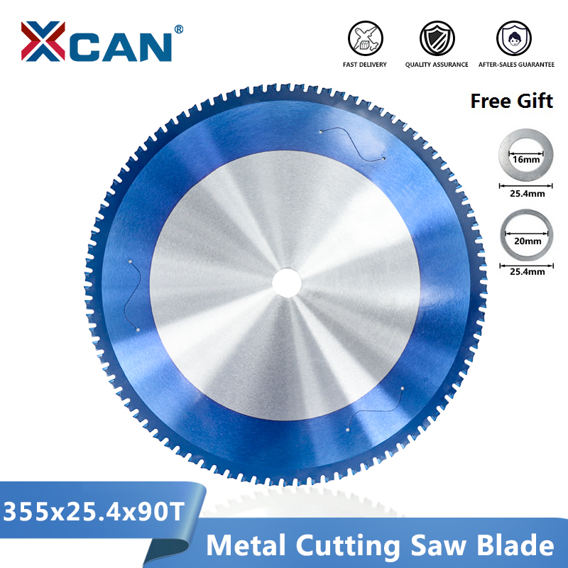XCAN Metal Cutting Saw Blade 355mm(14 Inch) 66/90 Teeth Circular Saw Blade For Aluminum Iron Steel Carbide Saw Blade