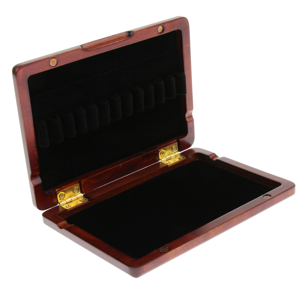 Dark Red Oboe Reed Storage Case Box Holder For Wind Woodwind Instrument Parts