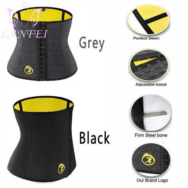 LANFEI Hot Neoprene Body Shaper Corset Men Thermo Sweat Waist Trainer Belt Weight Loss Workout Slimming Modeling Strap Vest Faja 4