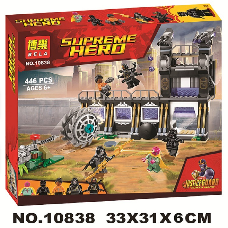 Image 2 - 10838 Compatible Legoinglys Marvel Avengers Infinity War Super Heroes Corvus Glaive Thresher Attack Building Block Brick Toys-in Blocks from Toys & Hobbies