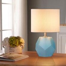 Nordic LED Rhombic Glass Reading Table Lights Modern Desk Decoration Lamps for Living Room Study Bedroom Bedside Luminaires