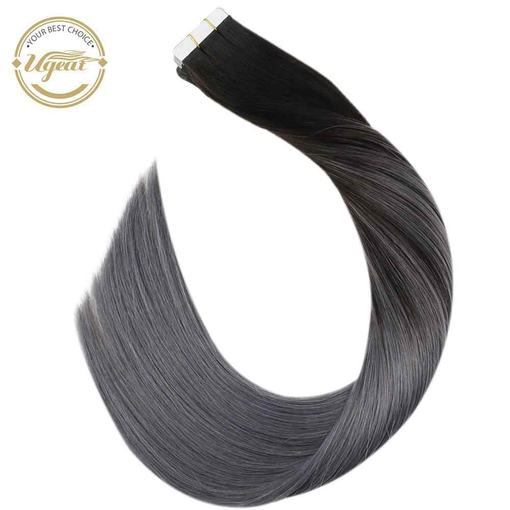 "[Extra 5% Off] Ugeat Tape In Human Hair Extensions 14-24 ""Lijm In Haar 100G/40Pcs Machine Remy Haar Balayage Kleur Haar"